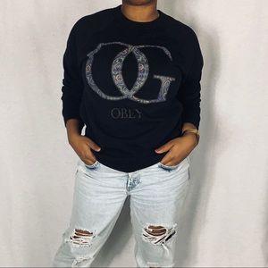 OBEY Crewneck Long Sleeve Sweatshirt - Unisex